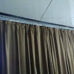 dirty brown curtain
