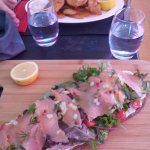 Tartine saumon et fish and chips (frites maisons!)