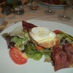 salade chèvre, jambon cuit