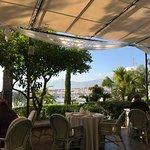 Breakfast patio overlooking marina. Beautiful and quiet.