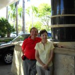 Our photo taken at the Hotel Main Entrance