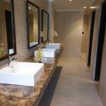 Common bathrooms near reception