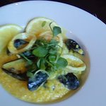 Seafood Risotto with cream