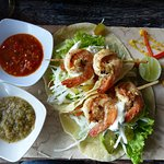 Oh yum, the King Prawn Tacos