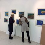 Local school students' work on exhibition