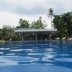 Big pool looking towards reception