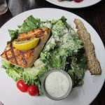 Grilled salmon Cesar salad