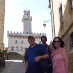 Giacomo from Tuscan Travellers with us in Montepulciano.