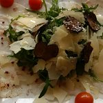 Carpaccio pesce al tartufo