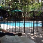 New Gate around pool of Place d'arms hotel in French Quarter