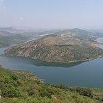Rhe lake behind