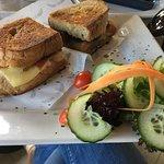 procuiitto, fig and cheese sandwich