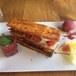 Mille-feuille de framboise  Un dessert délicieux et léger
