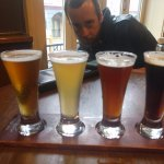 Flight of local beers