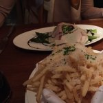 Perfect asparagus salad and THE best parmesan truffle fries x