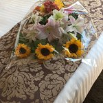Bouquet of flowers, compliments of Raphael and the hotel staff