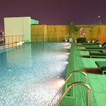 Beautiful rooms, rooftop swimming pool, decent staff Everything is next to perfection.