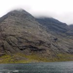 View across Loch Coruisk to the Dubh slabs.