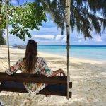 swing bench on the beach