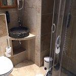 Tiny bathroom.