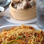 Singapore noodles and the best dumplings EVER.