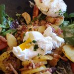Salade Vosgienne avec œuf mollet