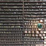 Remarkable shelves full of jewellery paraphernalia.