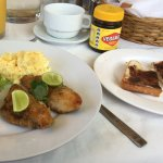 Caribbean breakfast (spicy fish and eggs)