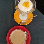 Desserts were Great -- Dessert of the House (top) & (vegan) Coffee Ice Cream