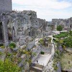 Vue sur les ruines du château des Baux-de-Provence