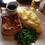 Great pie, mash, peas and gravy