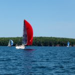 Racing up the channel on Jeanneau 3600 s/v No Trespassing