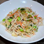 Asian noodle salad - great choice for vegans!