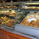 The pastry display.