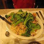 Marinated chicken with broccoli