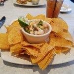 Shrimp and scallop ceviche.