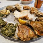 Oyster combo entree.