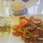 Chicken, Beef, Prawns with Szechuan sauce