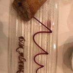 Chocolate cream in pastry cone - exorbitant