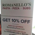 Foto de Romanello's Pasta-Pizza-Subs