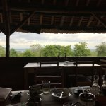 Sitting at breakfast one morning, view of the Nile River