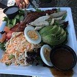 Giant Cobb salad, Gus's Pub 1573 Beach Dr, Port McNeill, British Columbia