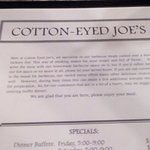Foto de Cotton Eyed Joe's Restaurant
