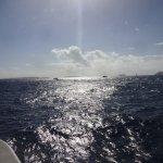 Heading toward Virgin Gorda between Cooper Island and Tortola