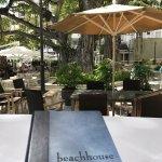 Beautiful day at the Beachhouse restaurant looking at Deva the historic tree at the Moana.