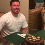 Thank you for the delicious pulled pork dinner and birthday cake!  They were enjoyed by all.  We