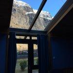 Glass door and overhead window