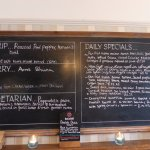 Specials listed daily on the blackboard