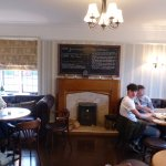 Pub area compact, great for a quiet drink before going into the dining room