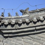 Roof detail on great wall watch tower